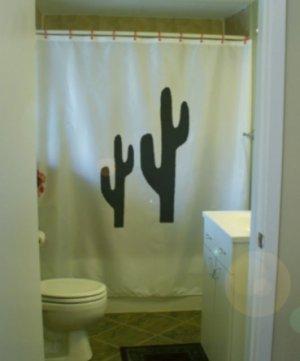 Bath Shower Curtain cactus cacti wild west desert arid water