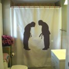 Bath Shower Curtain bowing boys martial respect bow boy dojo