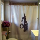 Bath Shower Curtain Big Ben clock tower London England chime