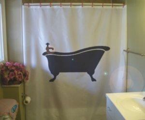 Bath Shower Curtain bath tub antique vintage victorian leg