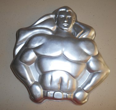 Wilton Cake Pan SuperMan DC Comics Super Man 1977