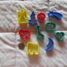 Mini Plastic Cookie Cutters Set of 10 Christmas Holiday Birthday