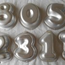 Wilton Mini Numbers Cake Pans Vintage Molds Single Serving Pan