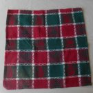 Vintage Christmas Napkins Holiday Green and Red Set of 4