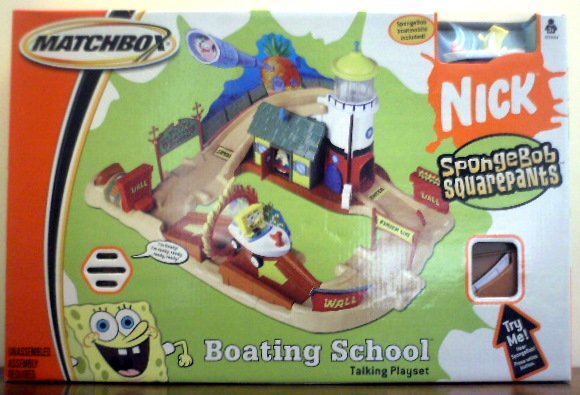 Sponge Bob Square Pants - Boating School Talking Playset
