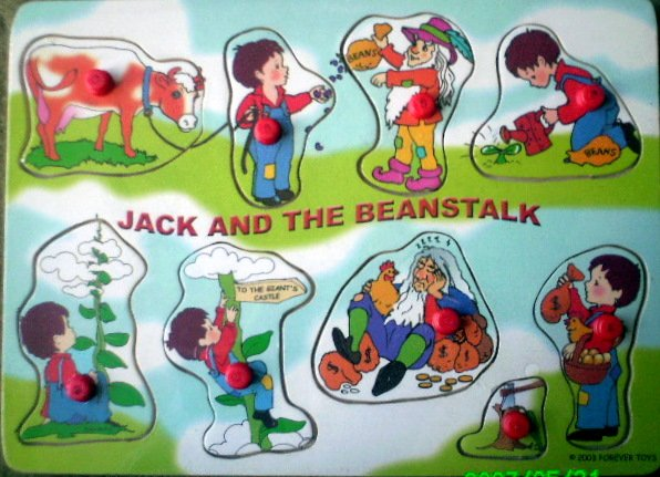 Jack and the Beanstalk - A Fairytale 8 Piece Wooden Puzzle for Toddlers