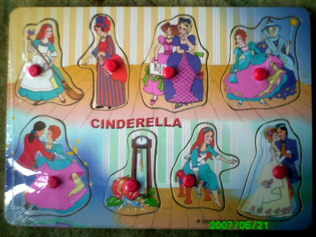 Cinderella - A Fairytale 8 Piece Wooden Puzzle for Toddlers