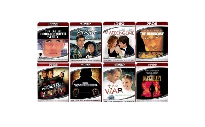 8 HD-DVD Movies 8 Titles The War - The Watcher - The Wedding Date - The River