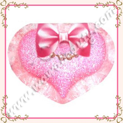 Toray Ultra Cute Oil Control Blotting Papers with Mirror, Heart, 50 Sheets