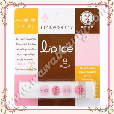 Mentholatum Lip Ice Lip Balm SPF15, Strawberry