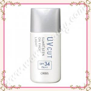 Orbis UV Cut Sunscreen On Face Light SPF34 PA++, Light Milky Type, 28ml