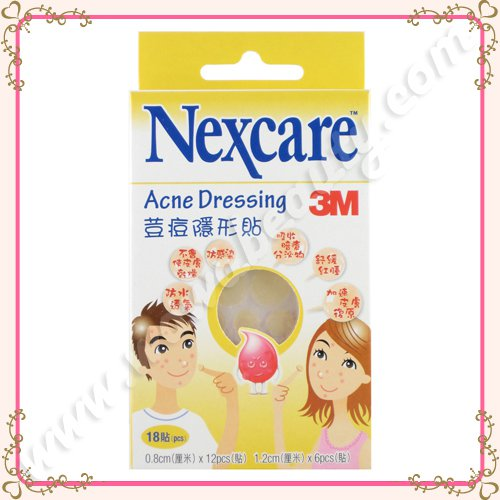 3M Nexcare Acne Dressing Patch Pimple Stickers, 18 Pieces