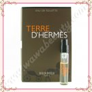 Hermes Terre d'Hermes Eau de Toilette EDT Spray, 0.06oz / 2ml