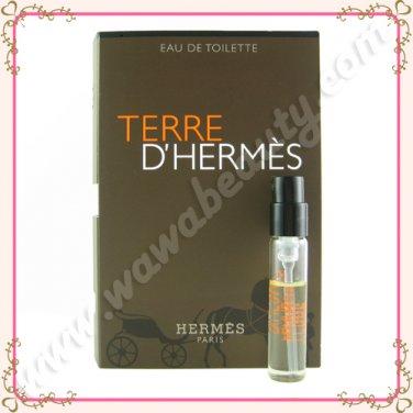 Hermes Terre d'Hermes Eau de Toilette EDT Spray, 0.06oz / 2ml