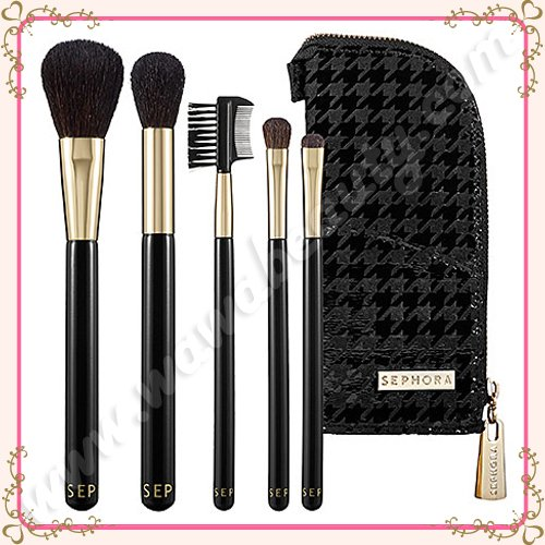 Sephora Collection Houndstooth Standing Bag Brush Set, Limited Edition