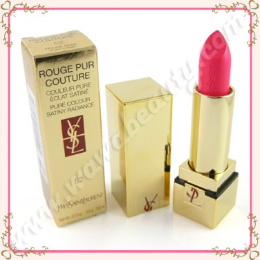 Yves Saint Laurent Rouge Pur Couture Pure Color Lipstick SPF 15, 52 Rosy Coral, 0.13oz / 3.8g
