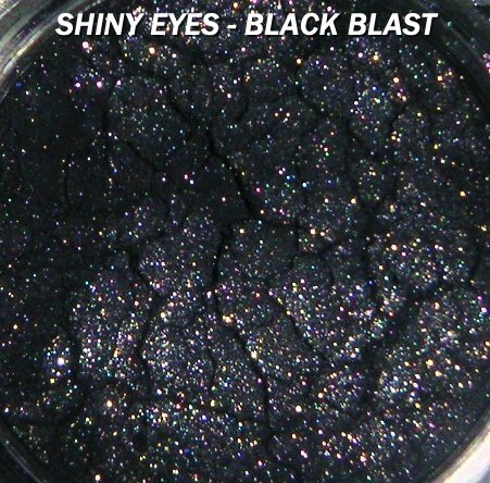"CJ's Shimmer Loose Mineral Pigment Eyeshadow ""BLACK BLAST"" Full 5 Gram  goes great with MACS!"