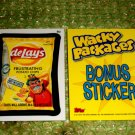 WACKY PACKAGES ANS8 BONUS CARD **DE~LAYS CHIPS**  B2