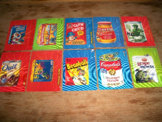 """WACKY PACKAGES 2011 ANS8 """"MOTION TAG"""" SET 10/10 NICE!!"""