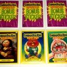 2011 GARBAGE PAIL KIDS THREE **BONUS CARDS** B1,B2 & B3  NM/MINT!! GREAT PRICE!!