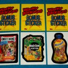 WACKY PACKAGES ANS3 *** THREE BONUS STICKERS*** B4,B5,B6