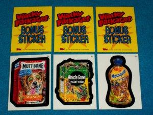 WACKY PACKAGES ANS3 *** THREE BONUS STICKERS*** B4,B5,B6