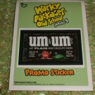 WACKY PACKAGES OLD SCHOOL2 PROMO STICKER NM+