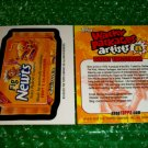 2012 WACKY PACKAGES SERIES8 BIO CARD **FIG NEWTS** BRENT ENGSTROM