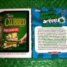 2012 WACKY PACKAGES SERIES8 BIO CARD **CLUBBED** GEORGE WRIGHT