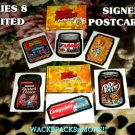 WACKY PACKAGES SERIES8 LIMITED ARTIST-SIGNED POSTCARD SET (6) W/COA NEW SERIES!