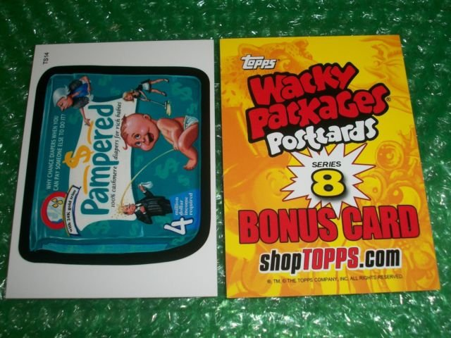 """2012 WACKY PACKAGES SERIES8 """"""""PAMPERED"""""""" BONUS CARD #TS14"""