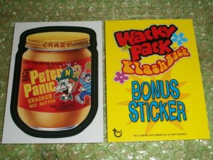 WACKY PACKAGES FLASHBACK ONE **PETER PAIN** BONUS STICKER   NM