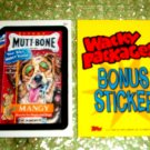 WACKY PACKAGES ANS3 ***MUTT-BONE***BONUS STICKER  B4