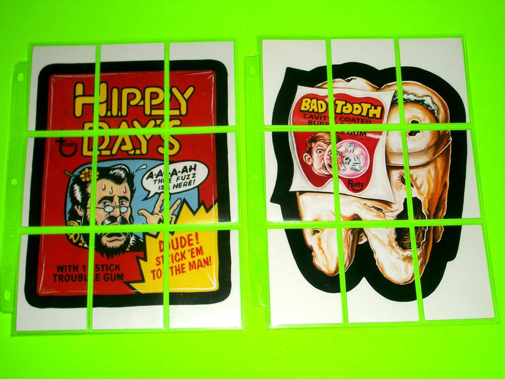 WACKY PACKAGES OLD SCHOOL2 & 3 BOTH COMPLETE PUZZLES NM/MINT