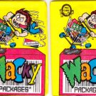 1992 WACKY PACKAGES O-PEE-CHEE LOT OF TWO UNOPENED PACKS