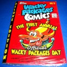 2013 Wacky Packages NO.5 Comic Book Deluxe Edition Celebrates The First Annual