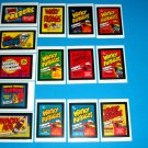 WACKY PACKAGES OLD SCHOOL 4TH SERIES COMPLETE WACKY PACKS AD STICKERS 14/14 TB
