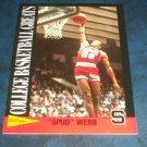 1992 KELLOGGS RAISAN BRAN COLLEGE BASKETBALL GREATS **SPUD WEBB** CARD
