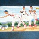 Upper Deck 1992 Lethal Lefties  **LANGSTON,ABBOTT,FINLEY** BASEBALL CARD #53