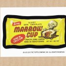 "2013 WACKY PACKAGES HALLOWEEN SERIES ""MARROW CUP"" BIO CARD by SAM GAMBINO"