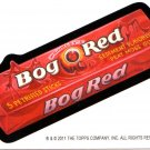 "2011 WACKY PACKAGES HALOWEEN SERIES ""BOG~RED"" BIO CARD by PAT CHAIMUANG  VHTF!!"