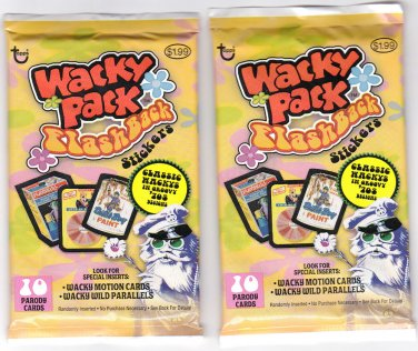 2008 WACKY PACKAGES FLASHBACK1  LOT OF 2 SEALED PACKS BRAND NEW! HTF!!