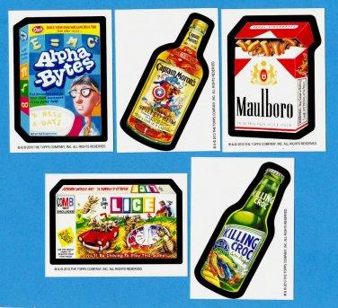 "2010 Wacky Packages Series6 L.E. Postcards Artist ""Bio Cards"" Complete 5/5 Set"