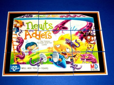 """2013 WACKY PACKAGES ANS10 """"NEWTS AND ADDERS"""" COMPLETE PUZZLE 9/9"""