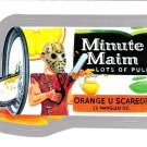2013 WACKY PACKAGES ANS11 SILVER CARD **MINUTE MAIM** (MINUTE MAID) #6