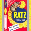 "WACKY PACKAGES FLASHBACK1 SILVER BORDER """"RATZ"""" #8  NM"