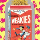 "WACKY PACKAGES FLASHBACK1 SILVER BORDER """"WEAKIES"""" #34  NM"