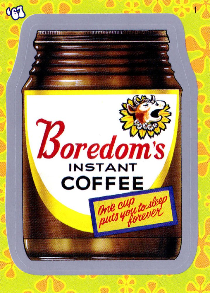 "WACKY PACKAGES FLASHBACK1 SILVER BORDER """"BOREDOM"""" #1  NM"
