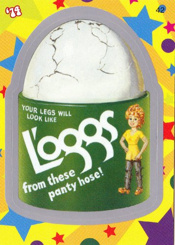 """WACKY PACKAGES FLASHBACK1 SILVER BORDER """"""""L'OGGS"""""""" #42  NM"""