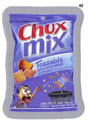 2013 WACKY PACKAGES ANS10 SILVER CARD **CHUX~MIX** #42 NEW SERIES